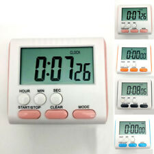 Large LCD Digital Kitchen Timer Countdown Up Alarm Clock 24 Hours Magnetic AAA