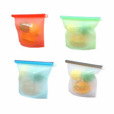 Reusable Silicone Food Preservation Bag Airtight Seal Food Storage Container New