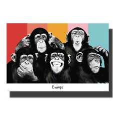 F-849 The Chimps Funny Monkey Face Canvas Poster Silk  Print picture 24x36 12x18