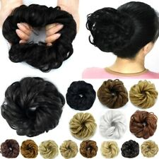 US Curly Messy Bun Hair Piece Scrunchie Updo Cover Hair Extensions Real As Human