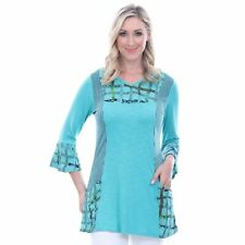 Parsley & Sage Plus Size Sea Green Jodie Bell Sleeve Tunic 1X