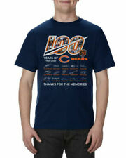 100 Years Anniversary of CHICAGO BEARS Signature For Fan Navy T Shirt