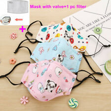 Child Kid PM2.5 Cotton Mouth Cover with Valve Anti-Fog Dust Haze Filter Reusable