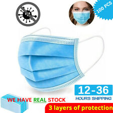 20 40 50 100 PCS 3-Ply Face Protection New
