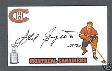 Phil Goyette signed Montreal Canadiens index card