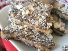 2lb Homemade English Butter Toffee Chocolate w/ Almonds Candy Dark Milk Semi
