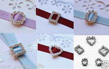 10 SQUARE RECTANGLE ROUND OVAL HEART RHINESTONE BUCKLES