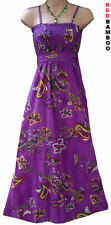 Purple Paisley Summer Maxi Beach Dress Size 10 12 14 16