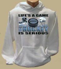 Ice Hockey Life's A Game Adult Hoodie