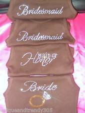 Wedding Party Gifts Bridesmaid Rhinestone Tank Shirt