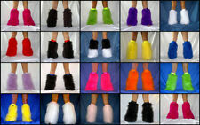 TRANCEPANCE FLUFFY FURRY LEGWARMERS BOOTS COVERS RAVE neon fluffies
