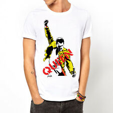 Queen-Freddie Mercury Classic Rock Band white t-shirt