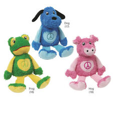 Peace Party Dog Toy Plush Animal Zanies Pet Puppy Pig & Frog Squeaker Inside