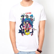 Gorillaz-band rap hip hop rock indie white t-shirt