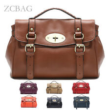 Retro 100% Genuine Leather Ladies Tote Shoulder Women Handbag Messager Bag Purse