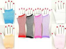 Women's Fishnet Fingerless Gloves Elbow,Wrist 8 Colors