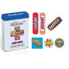 Brand New Assorted OUCH! Plasters In First Aid Tin