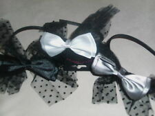 BNWT-Satin and Net Bow Hair Band/Alice Band
