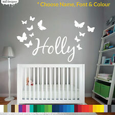Custom Text/Name Vinyl Wall/Door Sticker, Children/Kids