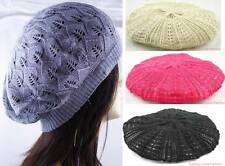 WOMEN BEANIE CROCHET BERET CAP HAT W/SPRING COLORS