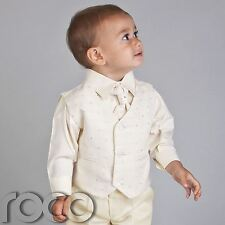 PAGEBOY OUTFITS BOYS ALL IVORY WAISTCOAT WEDDING SUIT