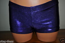 Nwt Bal Togs adult sizes  Purple lowrise booty dance shorts metallic item #8788