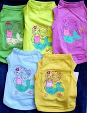 Dog T Shirt with Embroider  MERMAID size  XS S  M