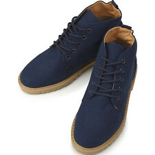 New Canvas Sneakers Blue Womens High Top Shoes