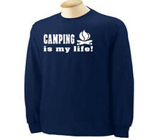 Camping Is My Life Camper Camp RV Tents  Long Sleeve T-Shirt