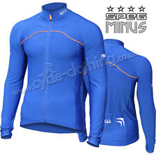 SPEG 'MINUS' Winter Cycle Cycling Jersey Blue RRP £44.99