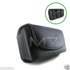 BLACK PREMIUM LEATHER POUCH CASE FOR NOKIA PHONES COVER WITH BELT CLIP LOOP