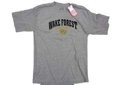 WAKE FOREST DEMON DEACONS ADULT GREY EMBROIDERED T-SHIRT NEW