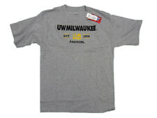 WISCONSIN MILWAUKEE PANTHERS ADULT GREY EMBROIDERED EST 1956 T-SHIRT NEW