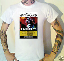 Alice In Chains Facelift Gig Flyer T-Shirt Hardcore Punk