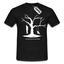 Life Always Has Two Sides Fun Spaß T-Shirt Gothic Dark Emo Tod Boy Man Herren