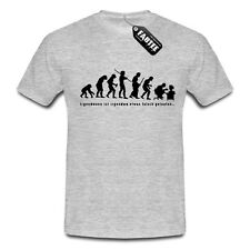 Evolution Computer Junkie PC Arbeit Freak Nerd Fun Spaß T-Shirt Boy Man Herren