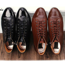 New Mens Dress Leather Shoes Formal Casual Black Brown Ankle Boots Premium