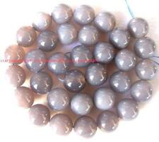 """Natural Gray Agate Round gemstone Beads 15"""" 4mm 6mm 8mm 10mm 12mm 14mm 16mm 18"""