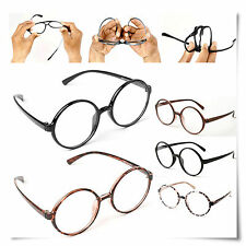 Large 360 Big Round Flexible Frame Clear Lens Oversized Glasses ALL Colors