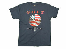 GOLF AN AMERICAN TRADITION ADULT NAVY BLUE SHORT SLEEVE T-SHIRT NEW