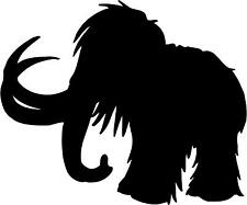"Wooly Mammoth Mastodon Decal 3.75""x4.5"" select your color!  vinyl sticker"