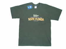 SOUTH FLORIDA BULLS ADULT GREEN EMBROIDERED SHORT SLEEVE T-SHIRT NEW