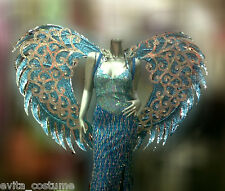 B028 Da NeeNa Dance Latin Wing Burlesque Blue Angel Victoria Secret Wings