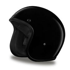 Daytona Cruiser 3/4 Open Face Helmet Hi-Gloss Black - ALL SIZES SHIP FREE!