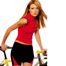 Womens Bicycle Jersey Ritzy Red by Trashy Cat