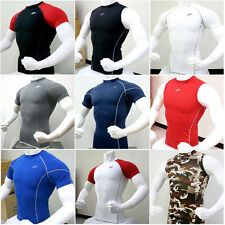 Mens Compression Under Base Layer Top Tight Short Sleeve T-Shirts Collection #1