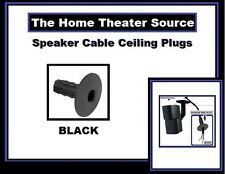 Surround Sound Theater Speaker Wire Black Ceiling Hole Plug Cable Pass Through