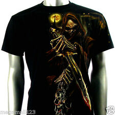 RC Survivor T-Shirt Biker Skull Tattoo Rock WB51 Sz M L XL XXL Heavy Metal Rider