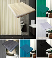 Extra Long Or Wide Fabric Shower Curtain in Black ,Grey, Cream, White, Green