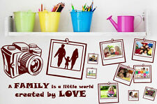 Wall Photo Album Sticker - 3 Styles  - LOVE, FRIENDSHIP, FAMILY - WALL STICKER